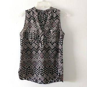 Charlotte Russe sleeveless blouse top shirt sz M